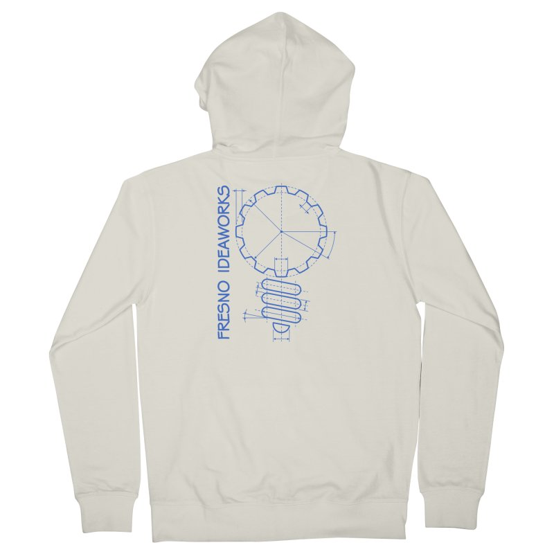 Classic Fresno Ideaworks Gearbulb Schematic (blue image) Men's Zip-Up Hoody by Fresno Ideaworks