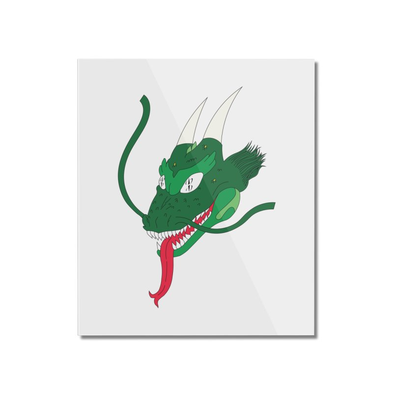 Solan Dragon Home Mounted Acrylic Print by FromRiley's Artist Shop