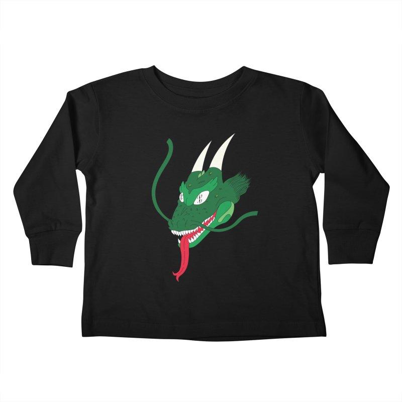 Solan Dragon Kids Toddler Longsleeve T-Shirt by FromRiley's Artist Shop