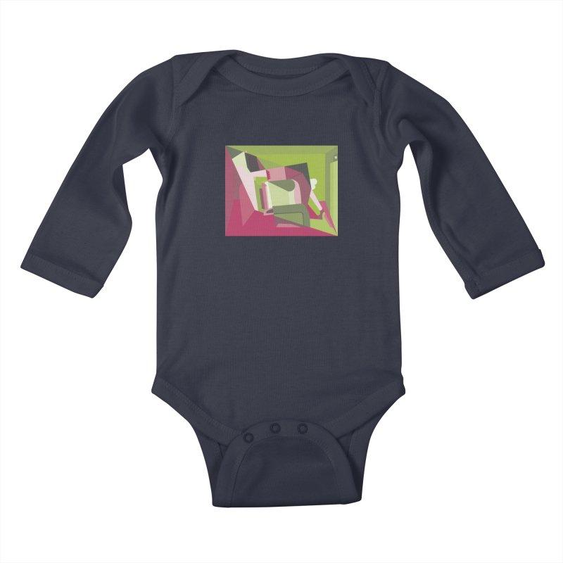 Leg Beater No. 3 Kids Baby Longsleeve Bodysuit by FromRiley's Artist Shop