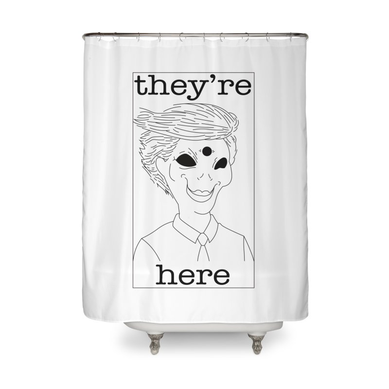 Ellien Degenerate Home Shower Curtain by FromRiley's Artist Shop