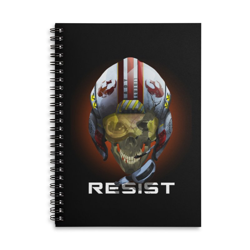Resist Accessories Lined Spiral Notebook by FunctionalFantasy Artist Shop