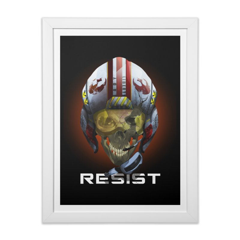 Resist Home Framed Fine Art Print by FunctionalFantasy Artist Shop