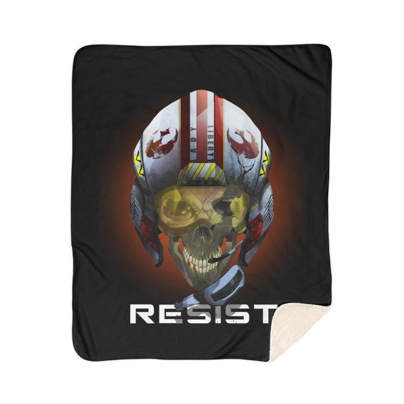 Resist Home Sherpa Blanket Blanket by FunctionalFantasy Artist Shop
