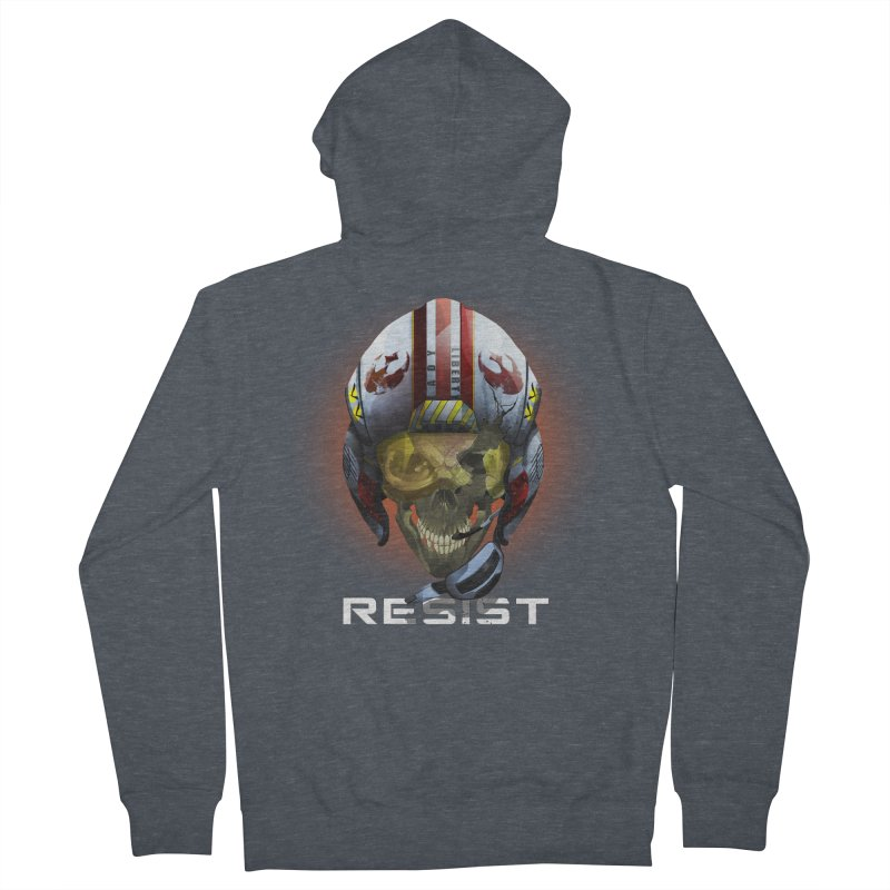 Resist Men's French Terry Zip-Up Hoody by FunctionalFantasy Artist Shop