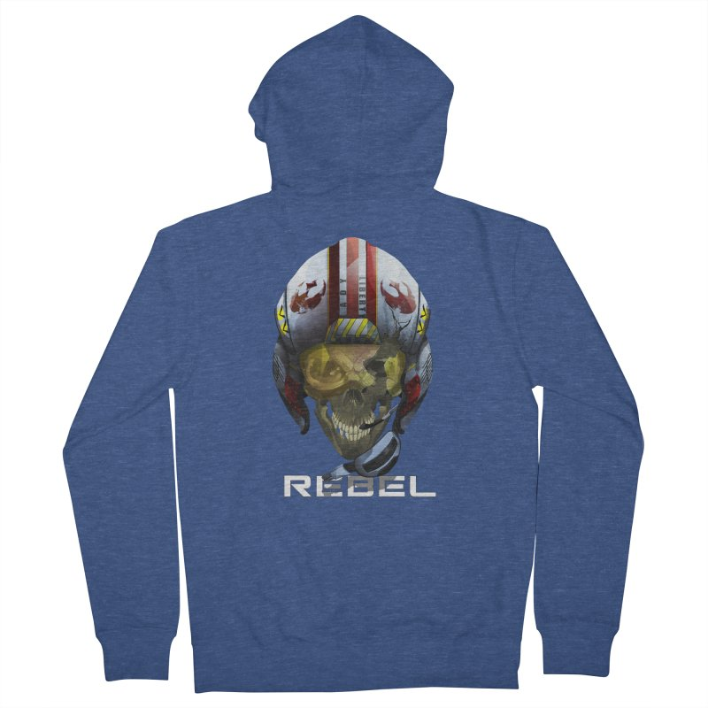 REBEL Women's French Terry Zip-Up Hoody by FunctionalFantasy Artist Shop