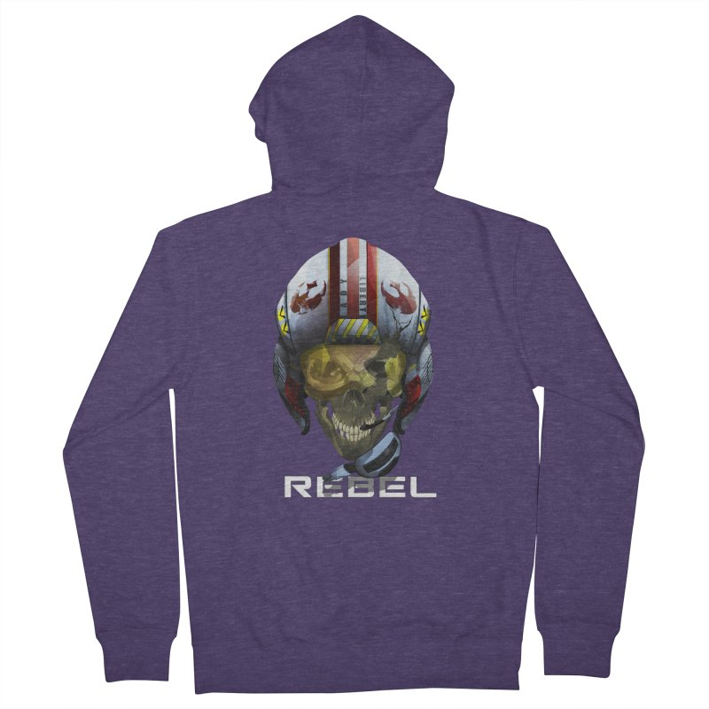 REBEL Men's French Terry Zip-Up Hoody by FunctionalFantasy Artist Shop