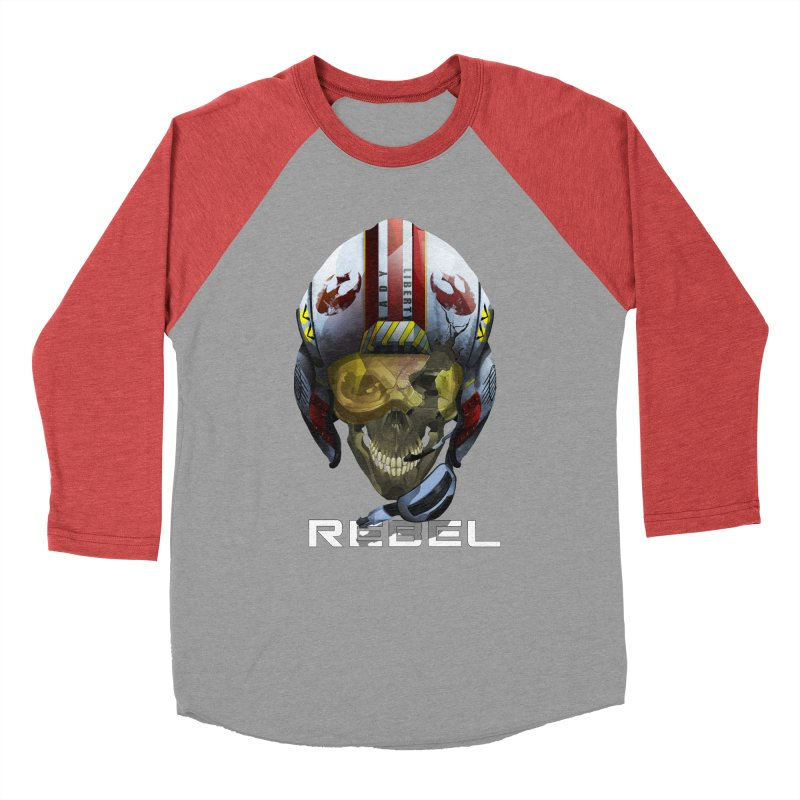 REBEL Women's Baseball Triblend Longsleeve T-Shirt by FunctionalFantasy Artist Shop