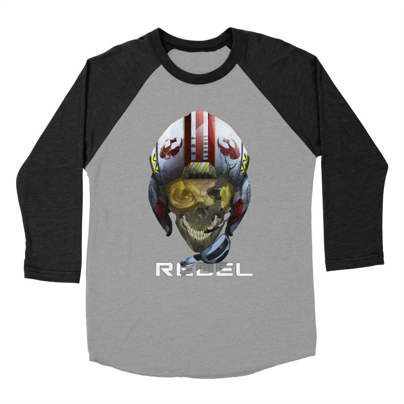 REBEL Women's Baseball Triblend Longsleeve T-Shirt by FunctionalFantasy Artist Shop