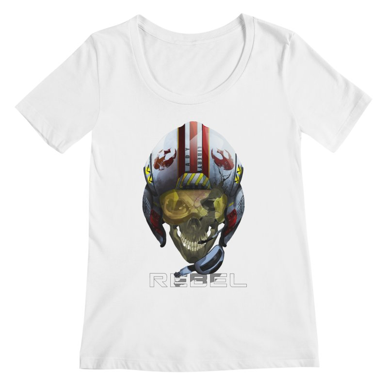 REBEL Women's Regular Scoop Neck by FunctionalFantasy Artist Shop