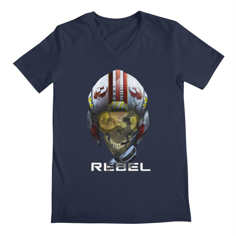 REBEL Men's Regular V-Neck by FunctionalFantasy Artist Shop