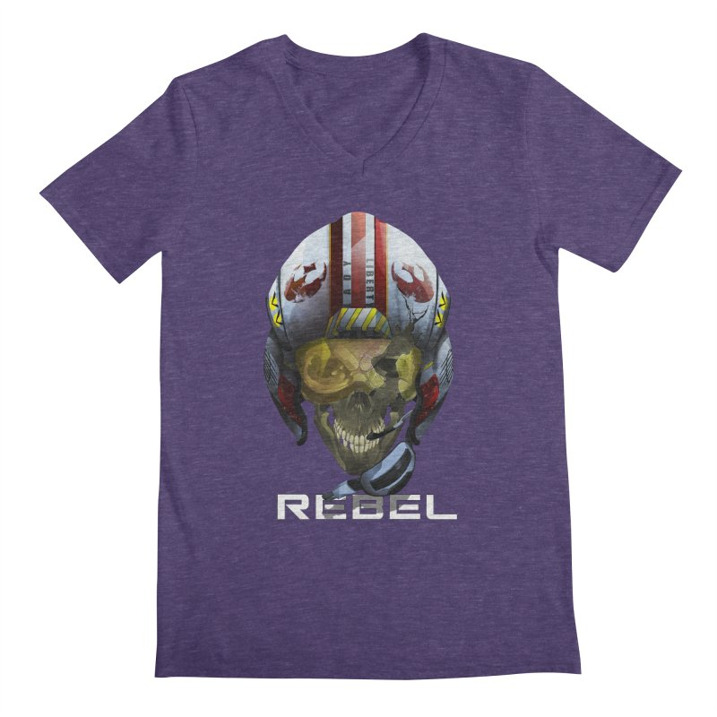 REBEL Men's Regular V-Neck by FunctionalFantasy Artist Shop