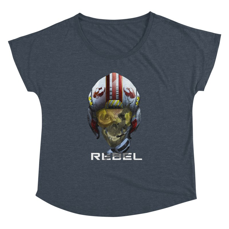 REBEL Women's Dolman Scoop Neck by FunctionalFantasy Artist Shop