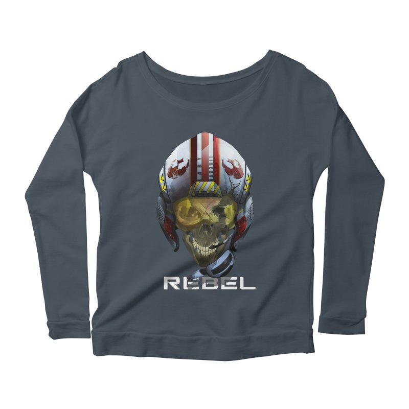 REBEL Women's Scoop Neck Longsleeve T-Shirt by FunctionalFantasy Artist Shop