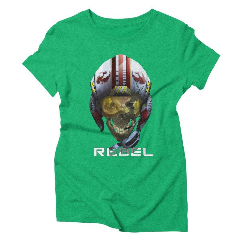 REBEL Women's Triblend T-Shirt by FunctionalFantasy Artist Shop