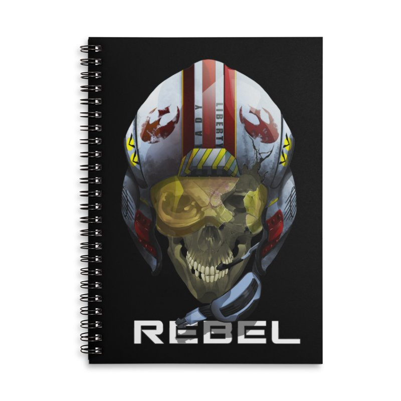 REBEL Accessories Lined Spiral Notebook by FunctionalFantasy Artist Shop