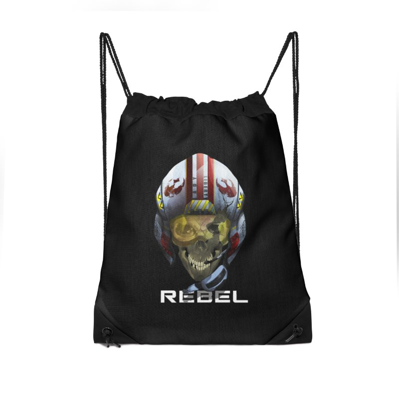 REBEL Accessories Drawstring Bag Bag by FunctionalFantasy Artist Shop