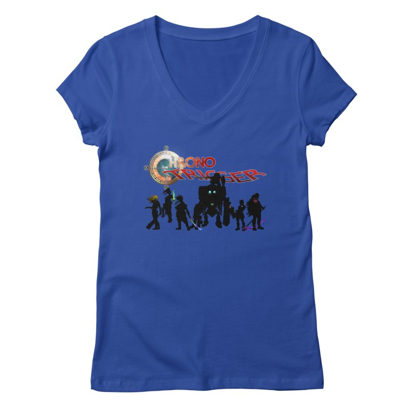 Chrono Trigger Women's Regular V-Neck by FunctionalFantasy Artist Shop