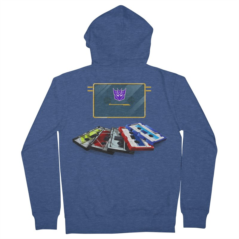 Soundwave Men's French Terry Zip-Up Hoody by FunctionalFantasy Artist Shop