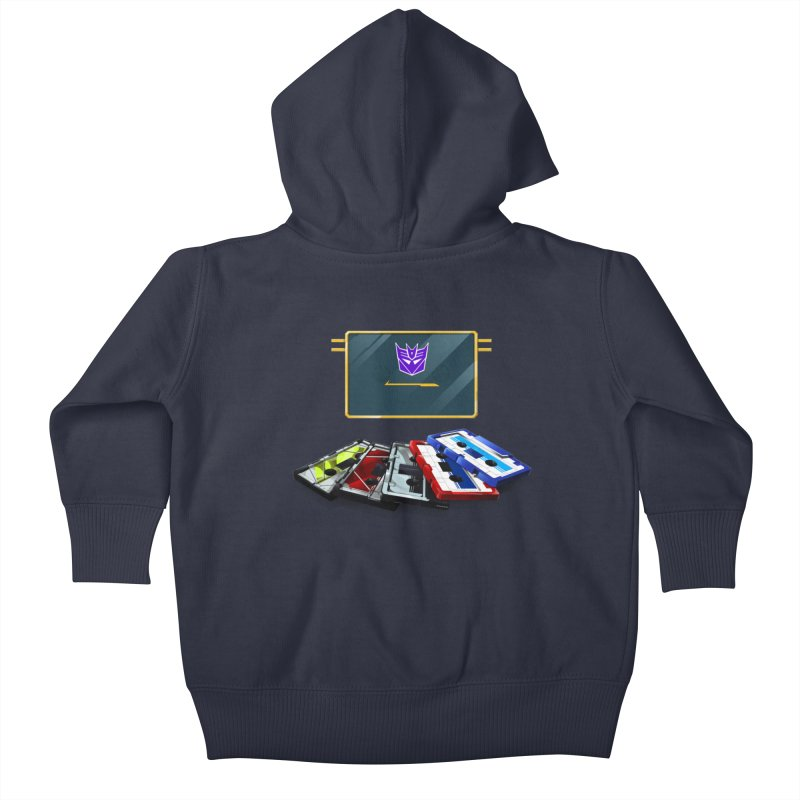 Soundwave Kids Baby Zip-Up Hoody by FunctionalFantasy Artist Shop