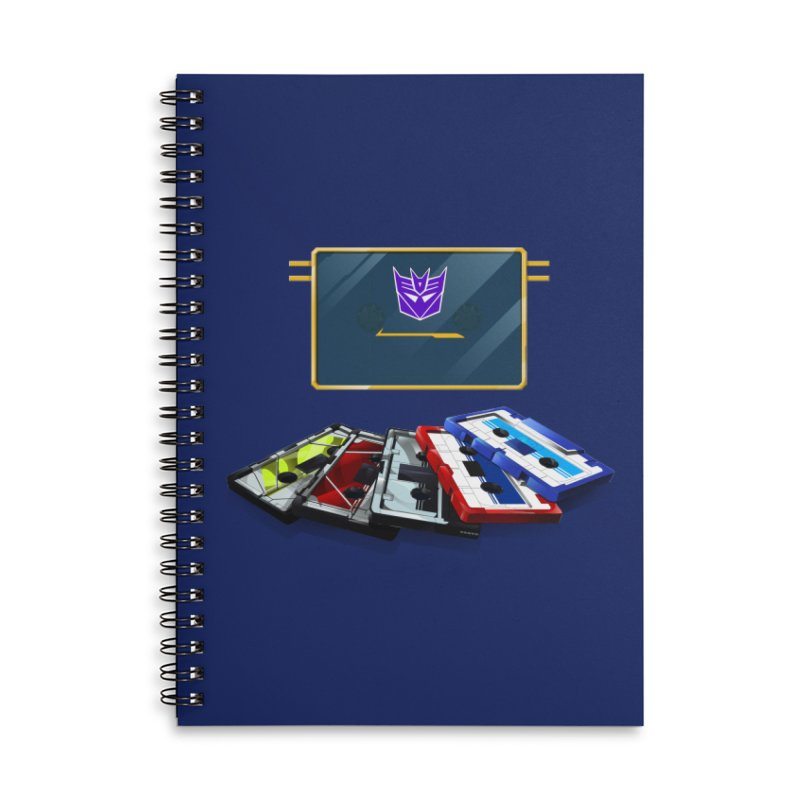 Soundwave Accessories Lined Spiral Notebook by FunctionalFantasy Artist Shop