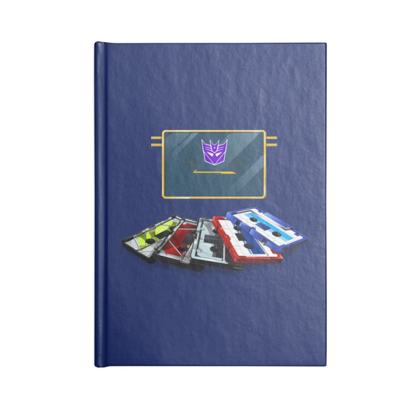 Soundwave Accessories Lined Journal Notebook by FunctionalFantasy Artist Shop