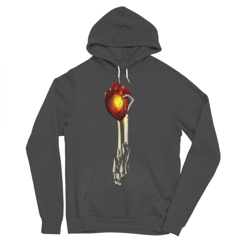 Heart in Hand Women's Sponge Fleece Pullover Hoody by FunctionalFantasy Artist Shop