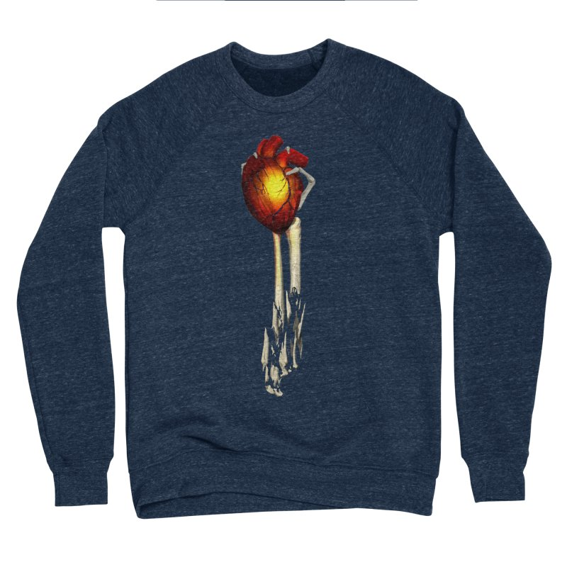 Heart in Hand Women's Sponge Fleece Sweatshirt by FunctionalFantasy Artist Shop