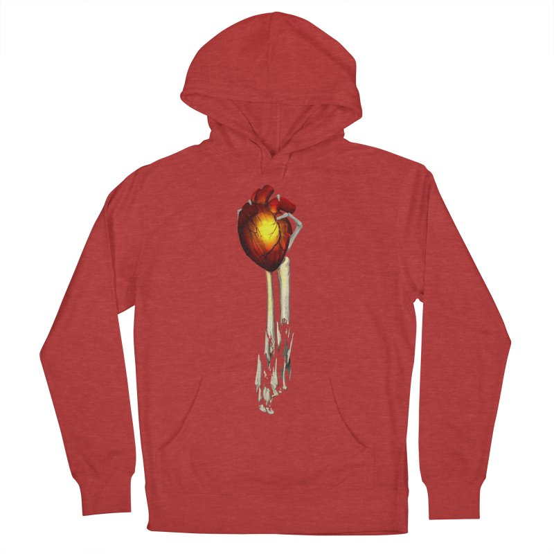 Heart in Hand Men's French Terry Pullover Hoody by FunctionalFantasy Artist Shop