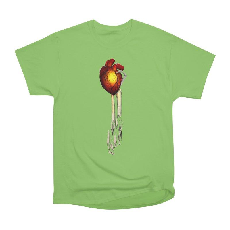 Heart in Hand Men's Heavyweight T-Shirt by FunctionalFantasy Artist Shop