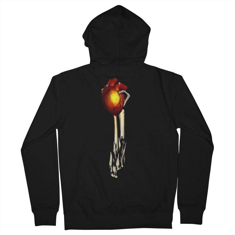 Heart in Hand Women's French Terry Zip-Up Hoody by FunctionalFantasy Artist Shop