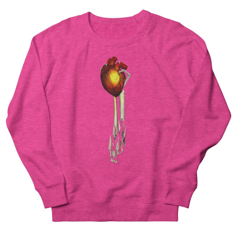 Heart in Hand Women's French Terry Sweatshirt by FunctionalFantasy Artist Shop