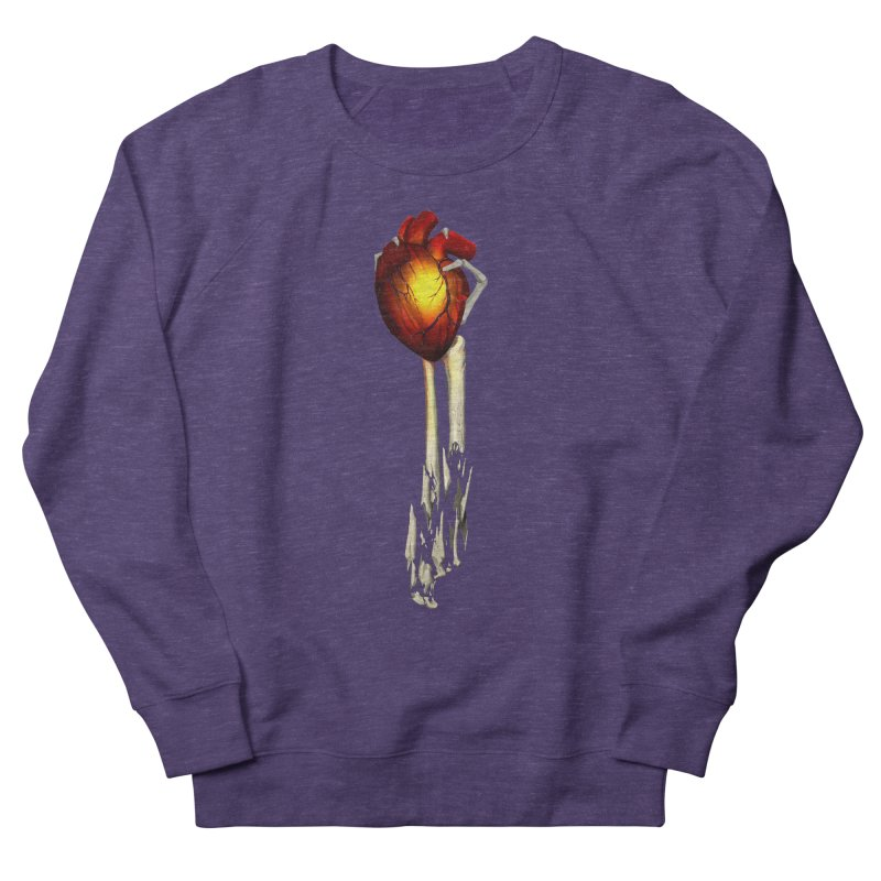 Heart in Hand Men's French Terry Sweatshirt by FunctionalFantasy Artist Shop