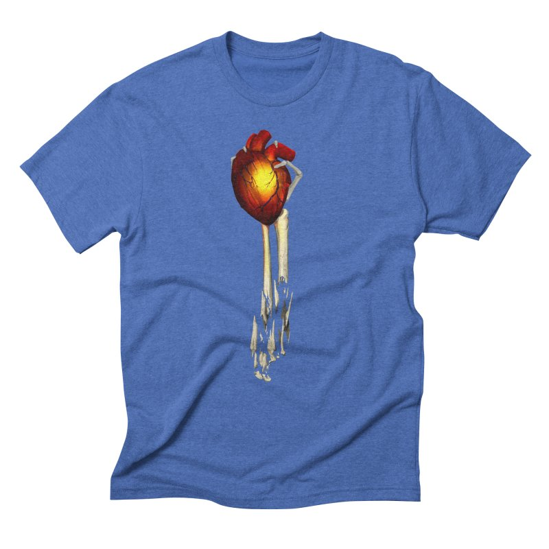 Heart in Hand Men's Triblend T-Shirt by FunctionalFantasy Artist Shop