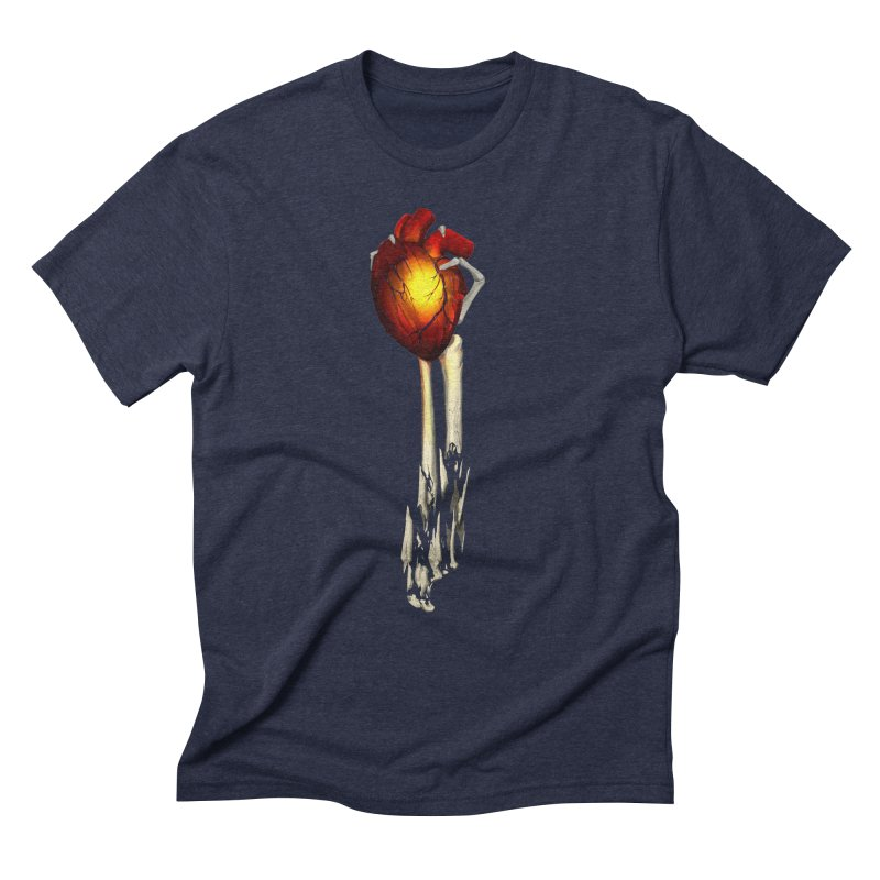 Heart in Hand Men's Triblend T-Shirt by FunctionalFantasy Artist Shop