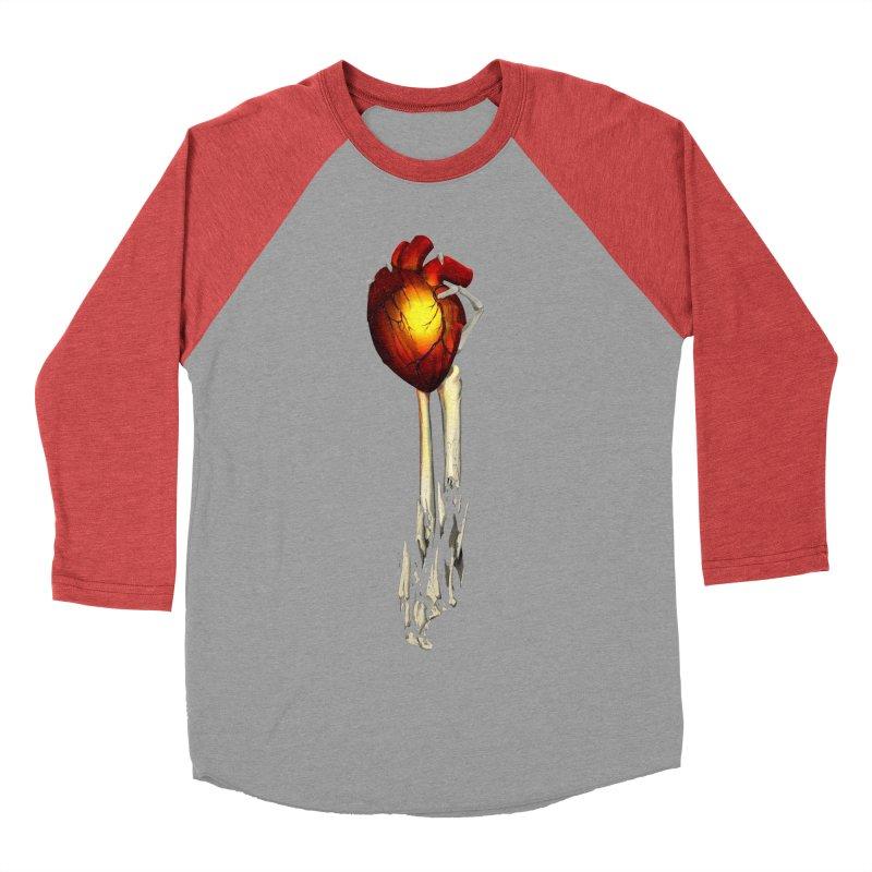 Heart in Hand Women's Baseball Triblend Longsleeve T-Shirt by FunctionalFantasy Artist Shop