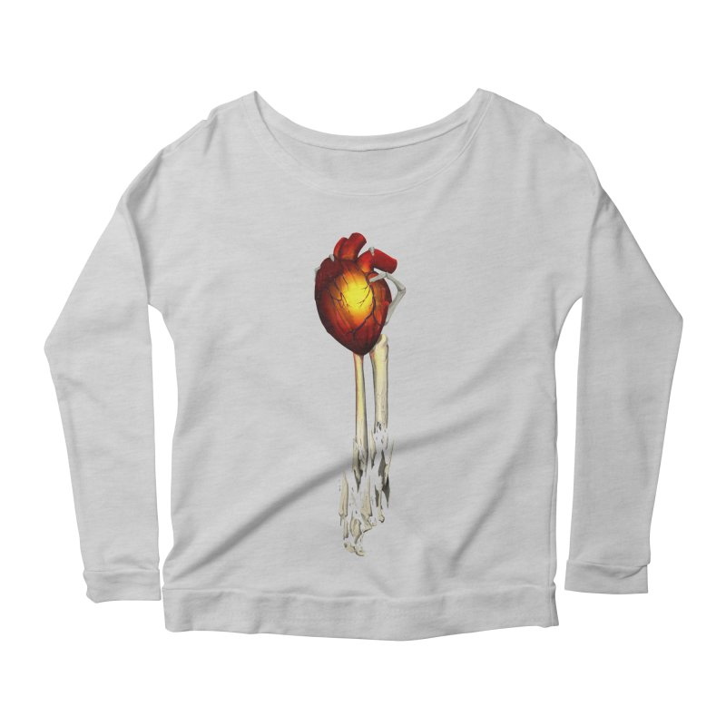 Heart in Hand Women's Scoop Neck Longsleeve T-Shirt by FunctionalFantasy Artist Shop