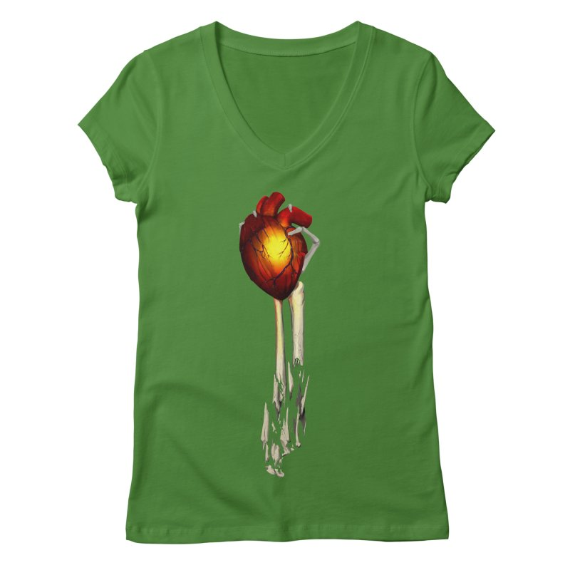 Heart in Hand Women's Regular V-Neck by FunctionalFantasy Artist Shop