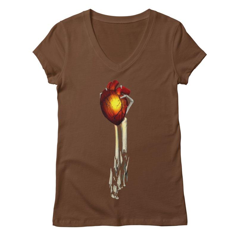Heart in Hand Women's Regular V-Neck by FunctionalFantasy Artist Shop