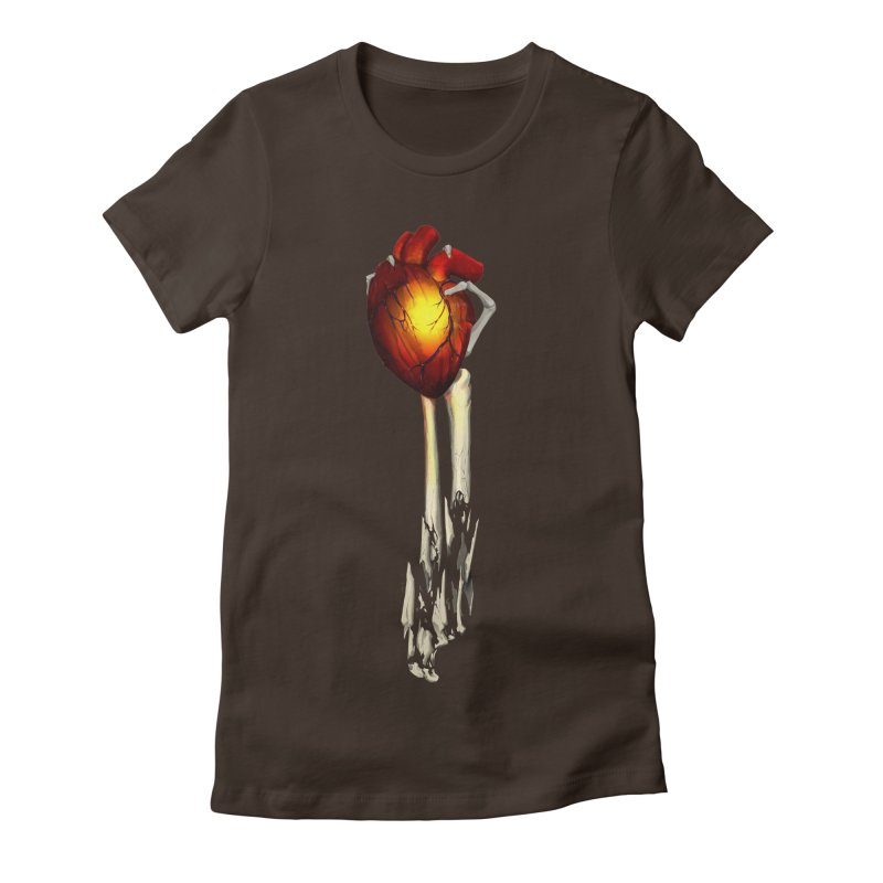 Heart in Hand Women's Fitted T-Shirt by FunctionalFantasy Artist Shop