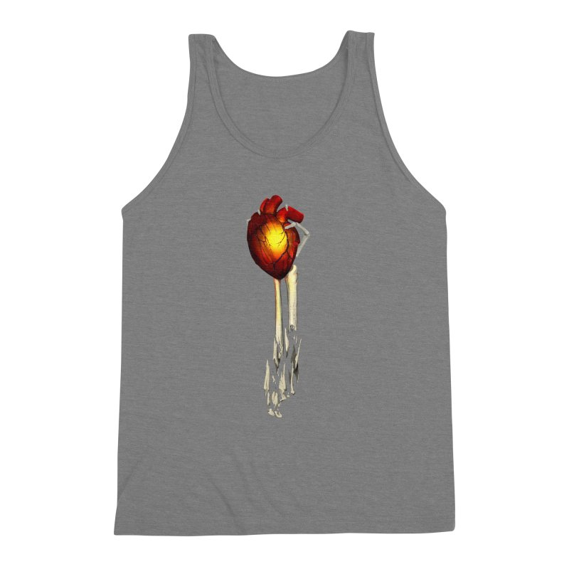 Heart in Hand Men's Triblend Tank by FunctionalFantasy Artist Shop