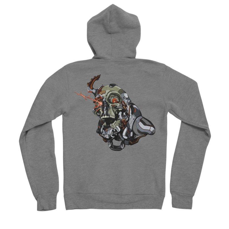 CyberSkull Men's Zip-Up Hoody by FunctionalFantasy Artist Shop