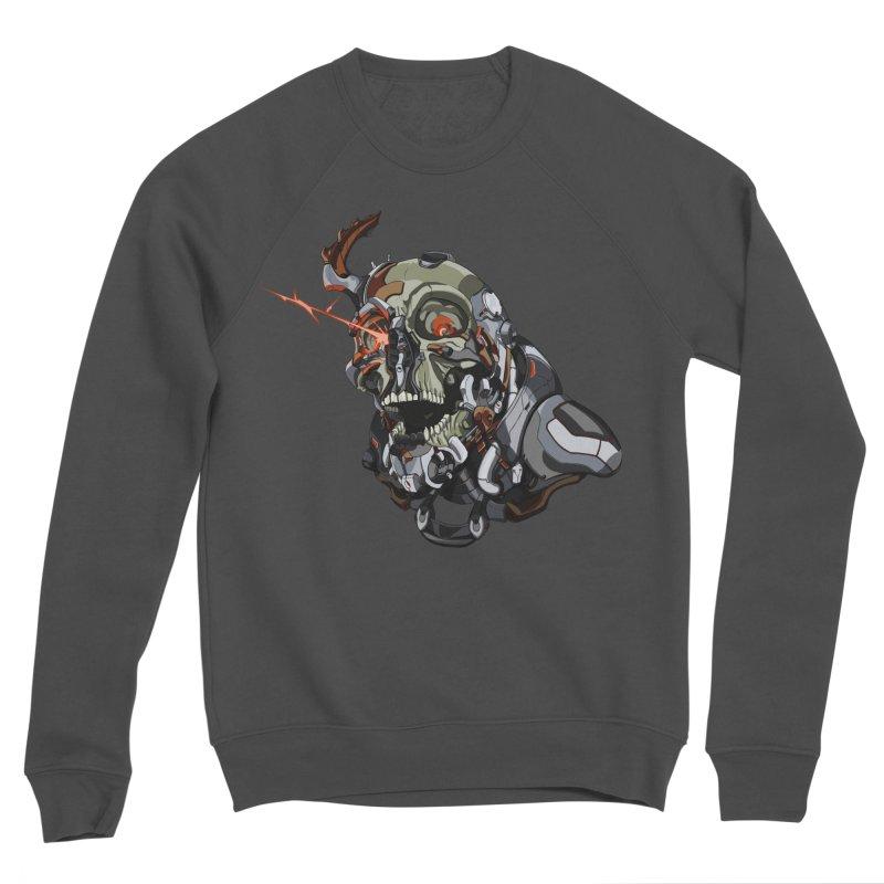 CyberSkull Men's Sponge Fleece Sweatshirt by FunctionalFantasy Artist Shop