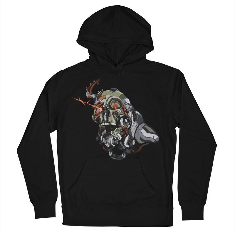 CyberSkull Men's French Terry Pullover Hoody by FunctionalFantasy Artist Shop