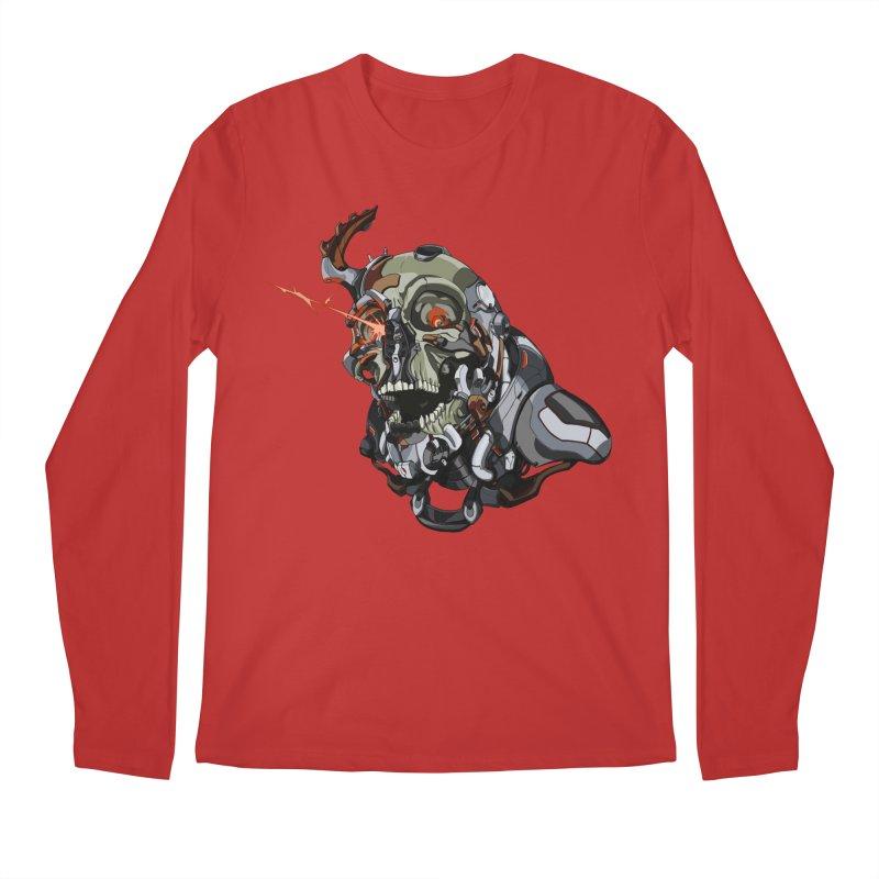 CyberSkull Men's Regular Longsleeve T-Shirt by FunctionalFantasy Artist Shop