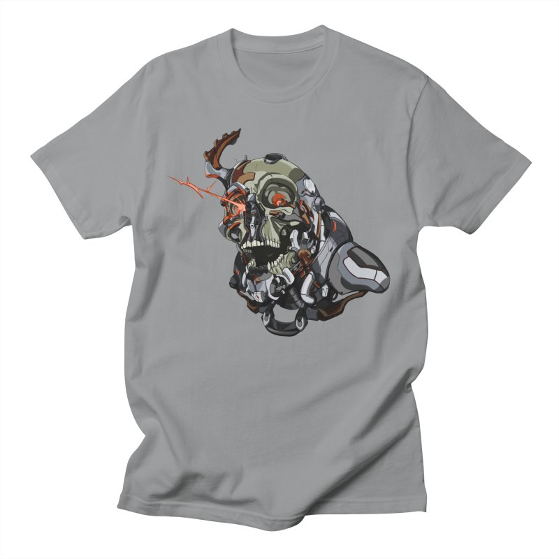 CyberSkull Men's Regular T-Shirt by FunctionalFantasy Artist Shop