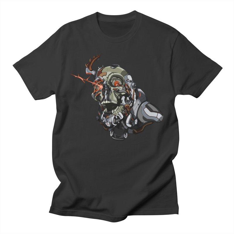 CyberSkull Women's Regular Unisex T-Shirt by FunctionalFantasy Artist Shop