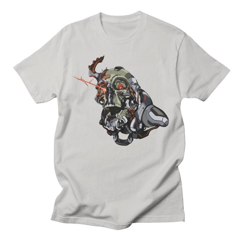 CyberSkull Men's Regular T-Shirt by FunctionalFantasy Artist Shop
