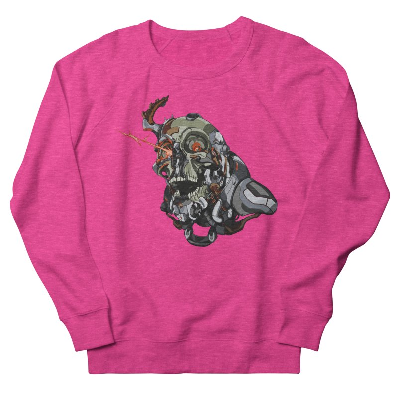 CyberSkull Women's French Terry Sweatshirt by FunctionalFantasy Artist Shop