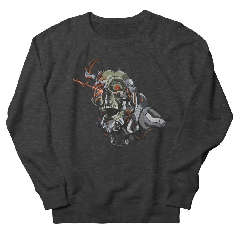 CyberSkull Men's French Terry Sweatshirt by FunctionalFantasy Artist Shop